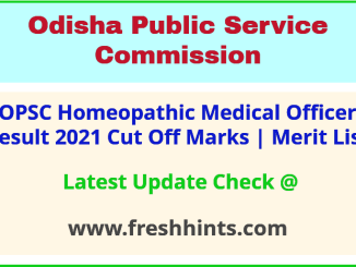 OPSC HMO Selection List 2021