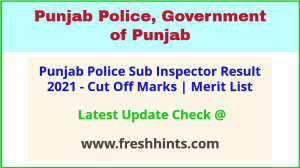 PP Sub Inspector Selection List 2021