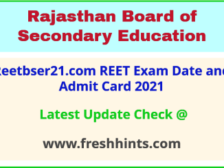 RBSE REET Level 1 and 2 Permission Letter 2021