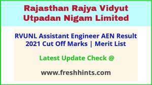 RVUNL Assistant Engineer Selection List 2021