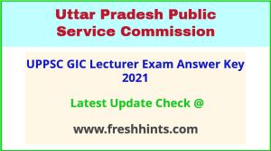 UP GIC Pravakta Exam Answer Key 2021