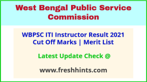 West Bengal PSC Instructor Selection List 2021
