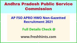 Andhra Pradesh PSC non-gazetted recruitment 2021