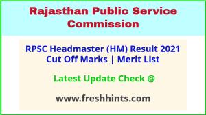Rajasthan HM Selection List 2021