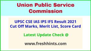 UPSC Civil Services Selection List 2021