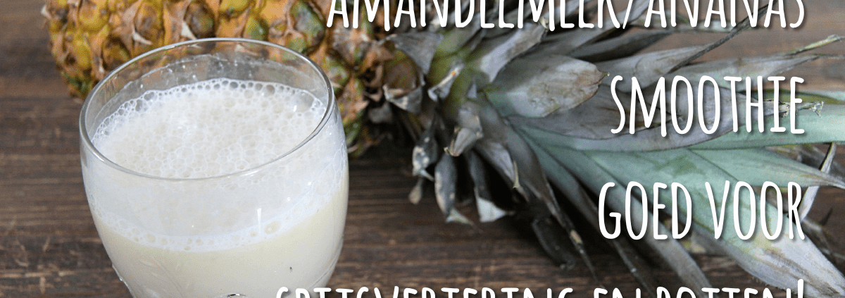 smoothie-amandelmelk-en-ananas