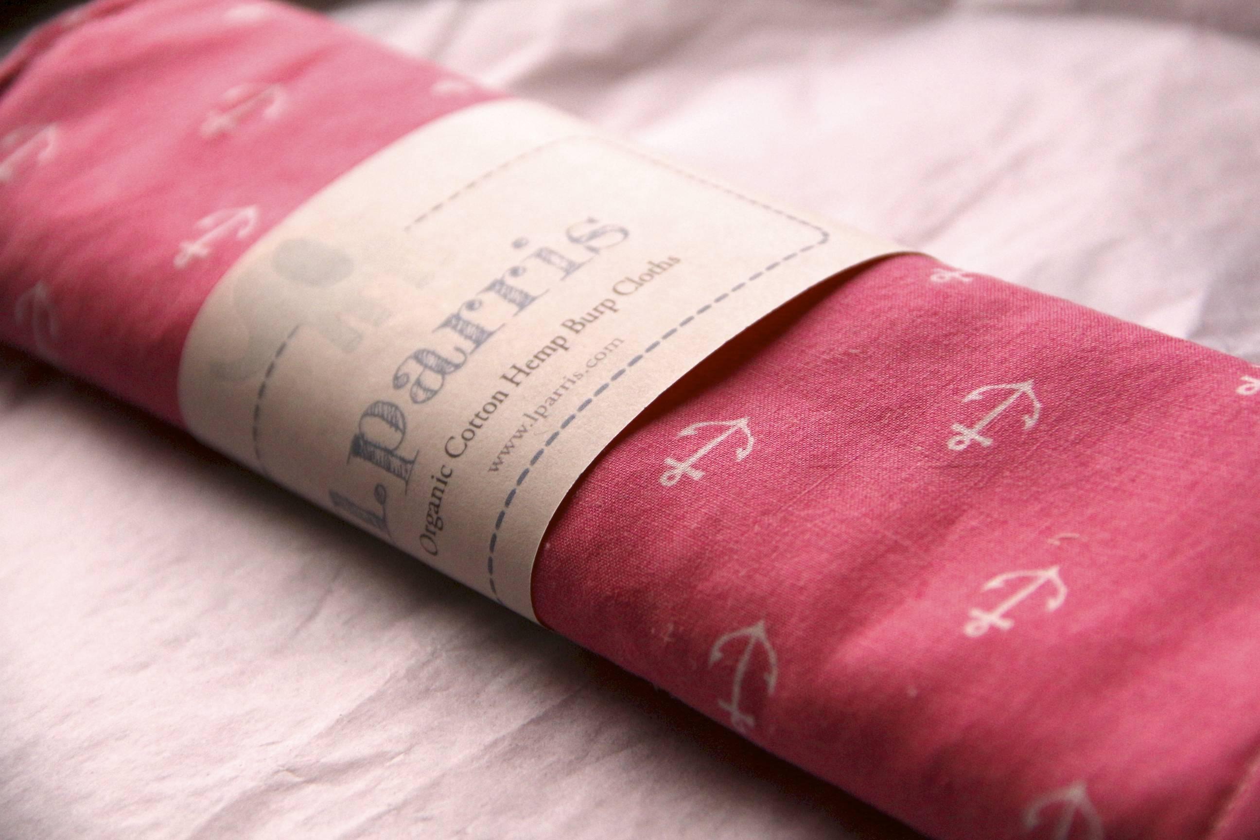 Organic Burp Cloths from L. Parris