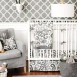 cute gray crib bedding