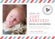 Just arrived birth announcement available in several color schemes.