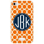 orange monogram iphone 5 case