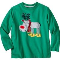 green reindeer tshirt