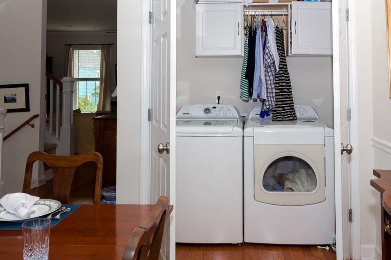 Washer Dryer on the 2nd floor