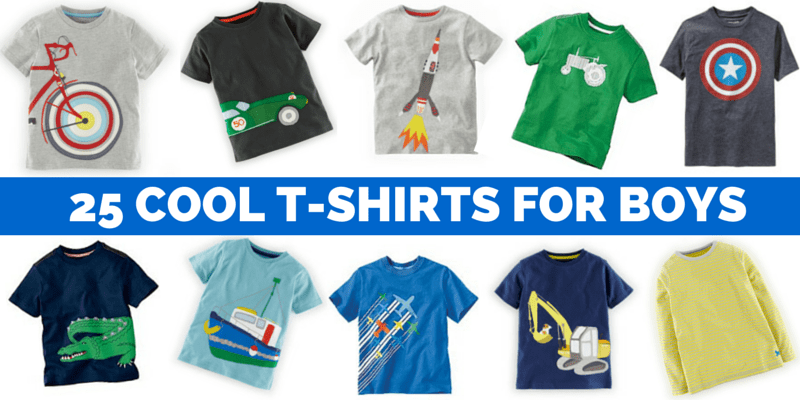 25 COOL T-SHIRTS FOR BOYS