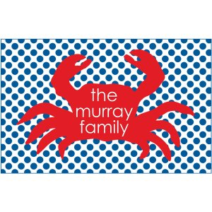 crab personalized paper placemats