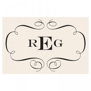 monogram paper placemats