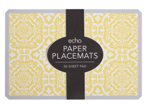 yellow flower paper placemats