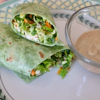 An Instagram-Worthy Lunch: Chicken Wrap with Chopped Greens and Goddess Dressing
