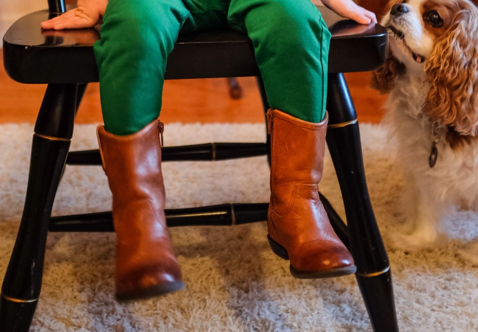 Toddler Frye Boots. Ridiculous? Perhaps. Adorable? Unquestionably.