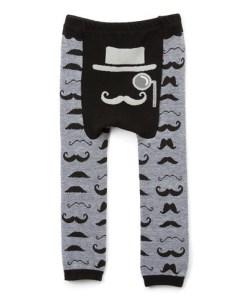 Mustache doodle pants