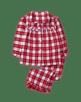 Classic plaid girls pajamas