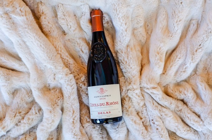 Cozy Delas Cotes-du-Rhone for a Wintery Saturday