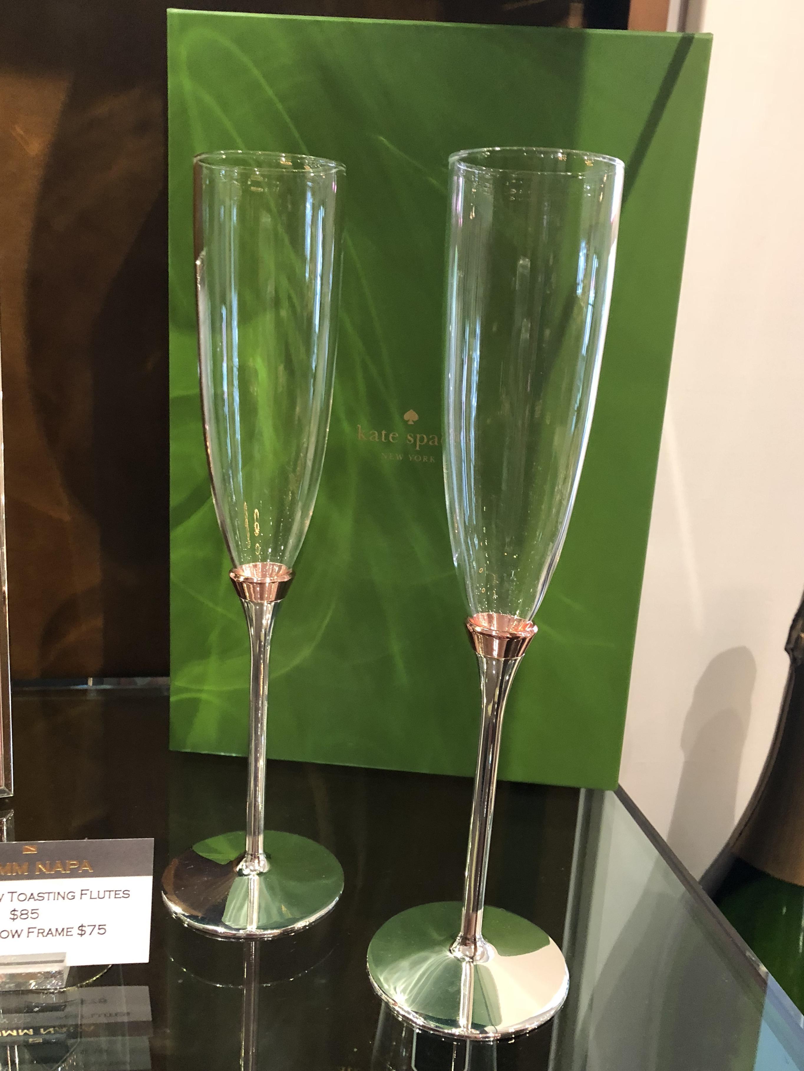 Rose Gold Champagne Flutes