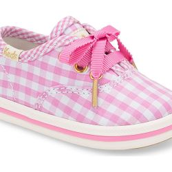 Pink Gingham Toddler Shoes