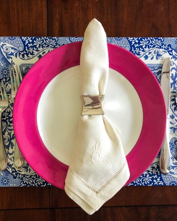 Charming Chinoiserie Place Setting