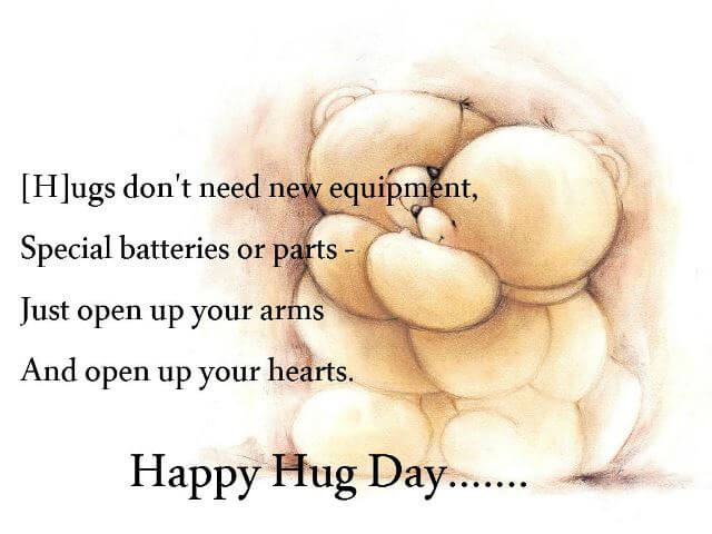 Hug Day 2018 Quotes Sayings And Images Freshmorningquotes