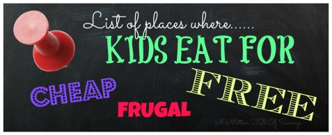 places where kids eat for free