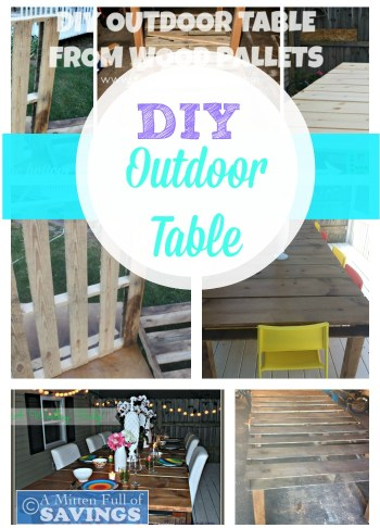 wood pallets, DIY, wood pallets projects, table out of wood pallets