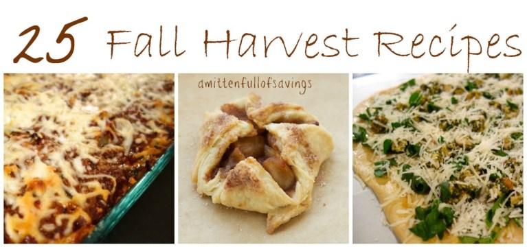 25 fall harvest receipes