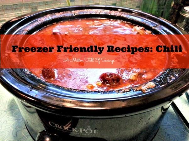freezer friendly recipes chili