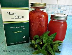 Creamy Tomato Basil Soup Ingredients