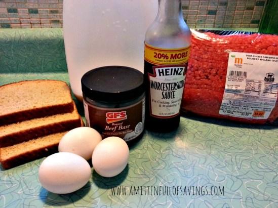 Easy Salisbury Steak Ingredients