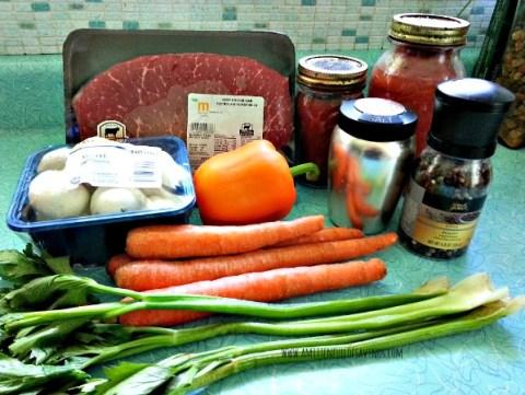 Freezer Beef Vegetable Soup Ingredients