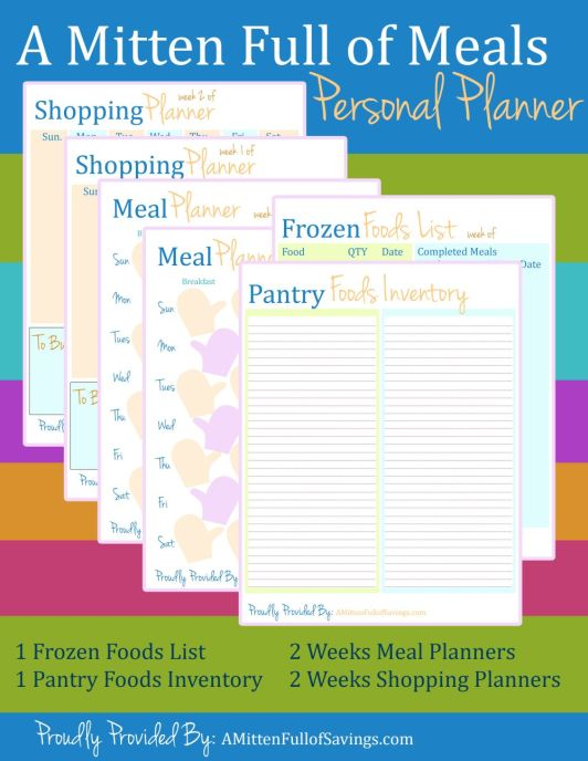 Personal Planner: Meal Planner Printables, how to create a meal plan, ways to save on food, grocery budget,