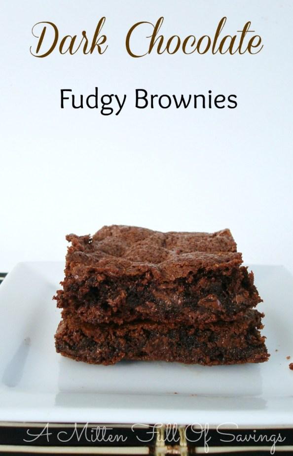 dark chocolate fudgy brownies