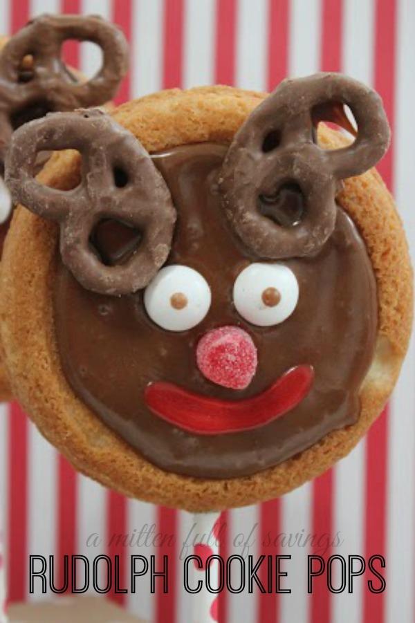 rudolph cookie pop