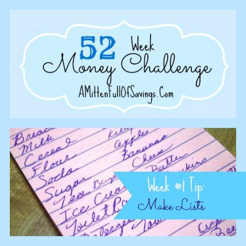 52 Money Save Ways: Week 1: Make Lists