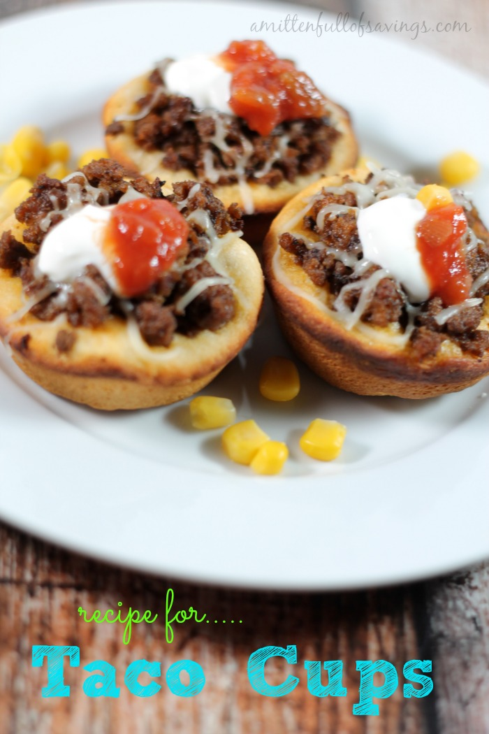Recipe For Taco Cups {easy meal}