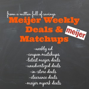 meijer deals, meijer weekly ad, meijer matchups, michigan meijer deals