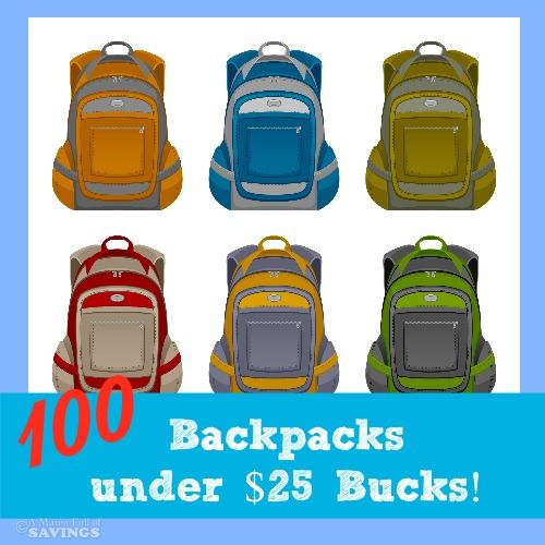 100 backpacks under 25 bucks