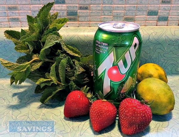 Strawberry Mojito Spritzers Ingredients