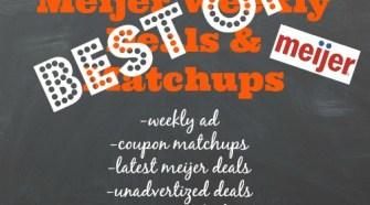 Best Meijer Deals this week
