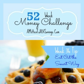52 Money Save Ways week 36 eat out the smart way