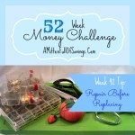 Repairing items before replacing them is a great way to save money. Read this great frugal tips on 52 Money Save Ways: Week 42: Repair Before Replacing