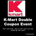 kmart double coupons, when does kmart double coupons, next kmart double coupon event