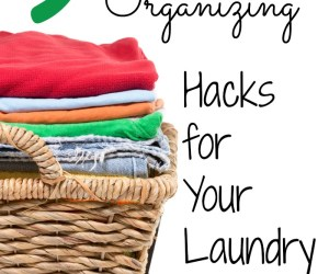 Here's a few easy hacks to help you get the Laundry Room in control- 9 Cleaning and Organizing Hacks for your Laundry Room