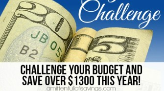 Need help on saving money? Here's an easy way to save money each week and it only requires a little from YOU! 52 Week Money Challenge - Ways To Save Money Week 13